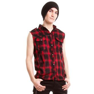 košile pánská bez rukávů VIXXSIN - Diablo - Red - POI084