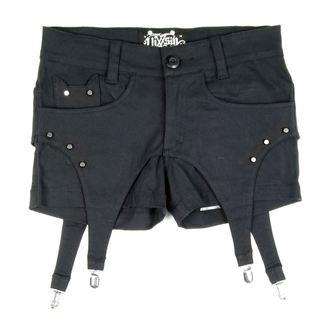 kraťasy dámské VIXXSIN - Suspender - Black - POI065