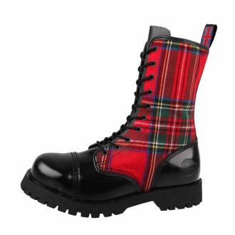 boty NEVERMIND - 10 dírkové - Black/Red Tartan - 10110S