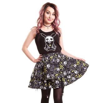 šaty dámské CUPCAKE CULT - Thunder Skater - Black, CUPCAKE CULT