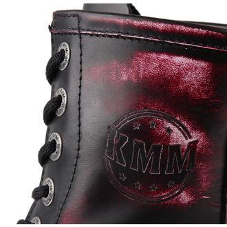 boty KMM 8 dírkové - Vampire Red - 080