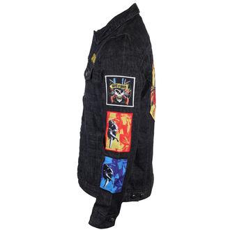 bunda pánská Guns N' Roses - Classic - Denim - BRAVADO - POŠKOZENÁ