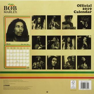 kalendář na rok 2019 BOB MARLEY, NNM, Bob Marley