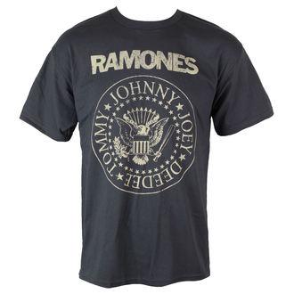 tričko pánské Ramones - Distress Crest - Char - BRAVADO - 95221457