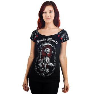 tričko dámské TOO FAST - SANTA MUERTE - Black, TOO FAST