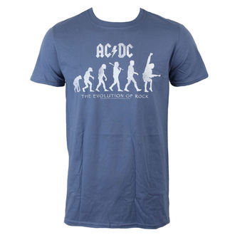 tričko pánské AC/DC - Evolution Of Rock - Heather Blue - LIVE NATION, LIVE NATION, AC-DC