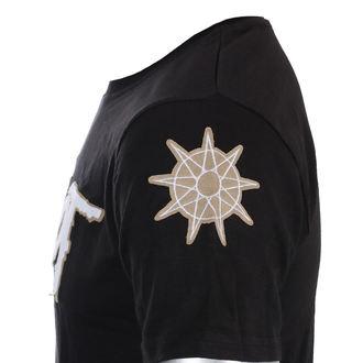 tričko pánské Slipknot - Logo & Star Applique Slub - ROCK OFF - SKAPSLUB01MB