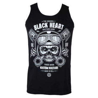 tílko pánské BLACK HEART - Piston Skull - 002-002-BLK