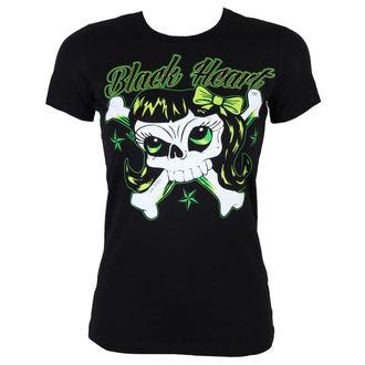 tričko dámské BLACK HEART - Bones Girl - BLK - 010-0005-BLK