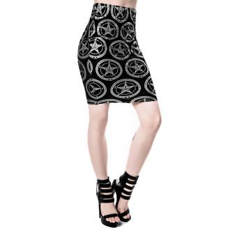sukně dámská KILLSTAR - Baphomet - Black - KIL248