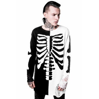 svetr (unisex) KILLSTAR - Skeletor - Black/White, KILLSTAR