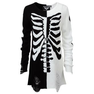 svetr (unisex) KILLSTAR - Skeletor - Black/White