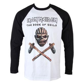 tričko pánské dlouhým rukávem Iron Maiden - Axe - Raglan Baseball - ROCK OFF, ROCK OFF, Iron Maiden