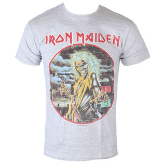 tričko pánské Iron Maiden - Killers - Cirlcle - Heather - ROCK OFF, ROCK OFF, Iron Maiden