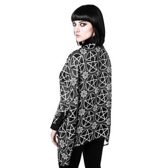 košile dámská KILLSTAR - Pentagram Chiffon - Black