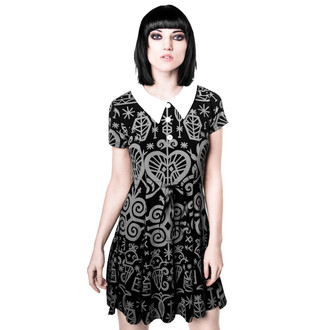 šaty dámské KILLSTAR - Voodoo Doll - Grey, KILLSTAR