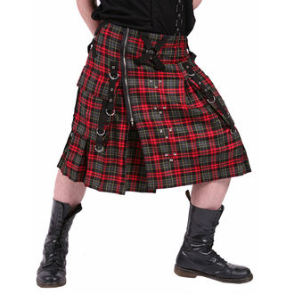 kilt pánský DEAD THREADS - Red/Grey, DEAD THREADS