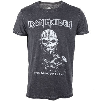 tričko pánské Iron Maiden - Book Of Souls - Burnout Grey - ROCK OFF, ROCK OFF, Iron Maiden