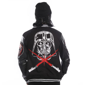 mikina pánská DISNEY - STAR WARS - Vader Varcity - Black, DISNEY, Star Wars