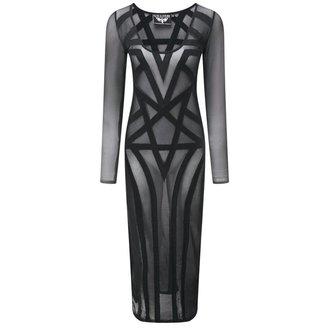 šaty dámské KILLSTAR - Zandra Mesh - Black - KIL321