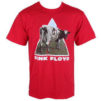 tričko pánské Pink Floyd - Atom Heart - Red - LOW FREQUENCY, LOW FREQUENCY, Pink Floyd