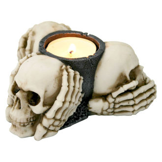 svícen (dekorace) Three Wise Skulls - NENOW, Nemesis now