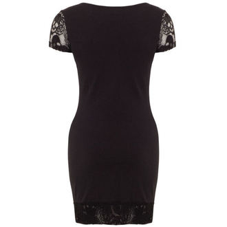 šaty dámské JAWBREAKER - Black/Red Rose