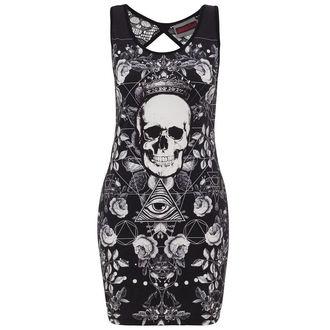 šaty dámské JAWBREAKER - Blk/Wht Skull, JAWBREAKER