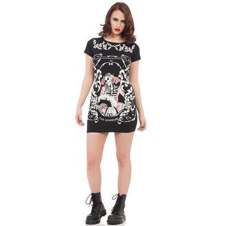 šaty dámské JAWBREAKER - Blk Skeleton - DRA8217