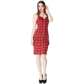 šaty dámské JAWBREAKER - Blk/Red Plaid Skulls, JAWBREAKER