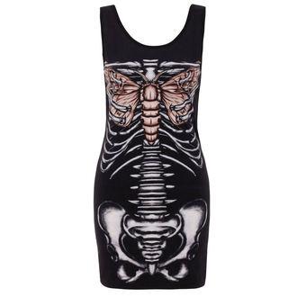 šaty dámské JAWBREAKER - Blck Ribcage