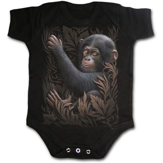dětské body SPIRAL - Monkey Business - Black, SPIRAL