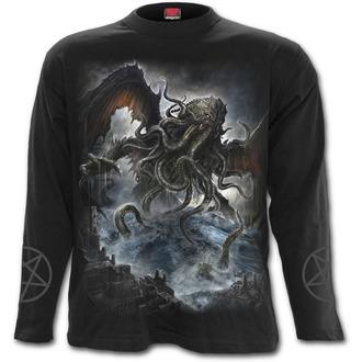 tričko pánské s  dlouhým rukávem SPIRAL - Cthulhu - Black - L029M301
