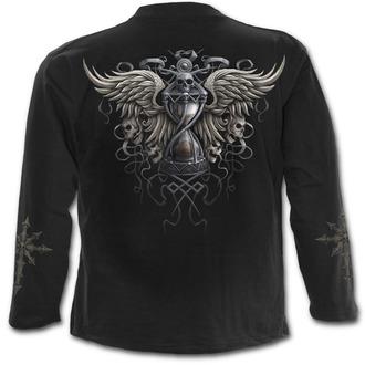 tričko pánské s dlouhým rukávem SPIRAL - Darkness - Black