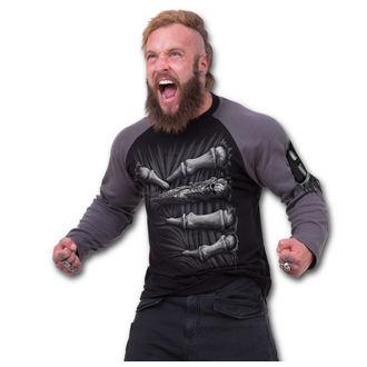 tričko pánské s dlouhým rukávem SPIRAL - Death Grip - Black - T107M314