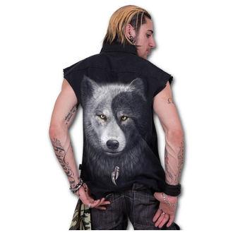 košile pánská bez rukávů SPIRAL - Wolf Chi - Black - T118M602