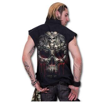 košile pánská bez rukávů SPIRAL - Death Bones - Black