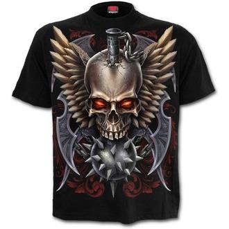 tričko pánské SPIRAL - Maced Skull - Black