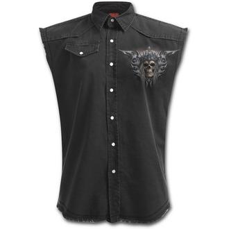 košile pánská bez rukávů SPIRAL - Death´s Army - Black - T129M602