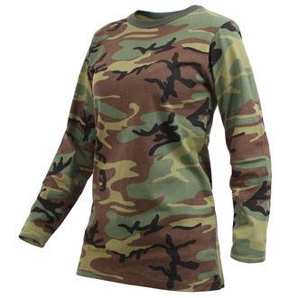 tričko dámské s dlouhým rukávem ROTHCO - WOODLAND CAMO, ROTHCO