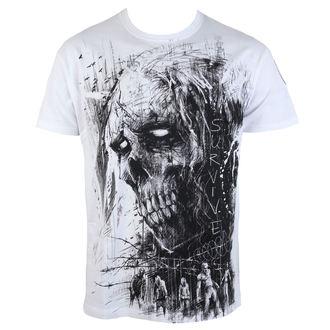 tričko pánské ALISTAR - Zombie Survive - white - ALI314