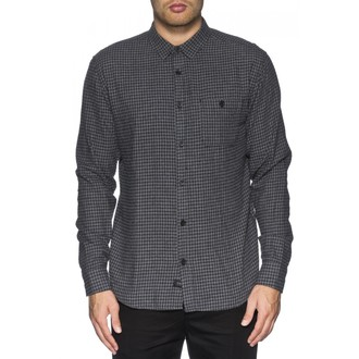 košile pánská GLOBE - Barkly LS - Grey Marle, GLOBE