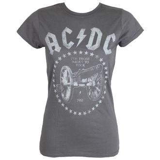 tričko dámské AC/DC - FTA2R - Charcoal - LIVE NATION