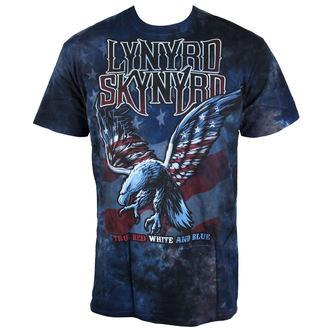tričko pánské Lynyrd Skynyrd - True Red, White & Blue Tie-Dye -  LIQUID BLUE - 11857