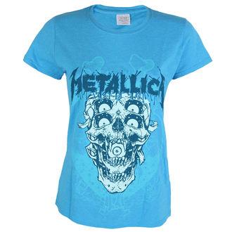 tričko dámské Metallica - Double Skull - Heather Sapphire, Metallica