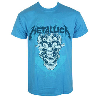 tričko pánské Metallica - Double Skull - Heather Sapphire - PRO041