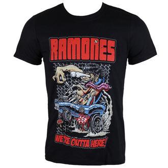 tričko pánské Ramones - Outta Here - ROCK OFF, ROCK OFF, Ramones
