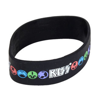 náramek Kiss - Logo & Icons - ROCK OFF, ROCK OFF, Kiss