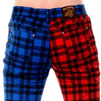 kalhoty pánské 3RDAND56th - TARTAN SPLIT LEG