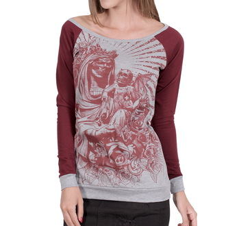 tričko dámské s dlouhým rukávem HYRAW - Black Santa - HY156